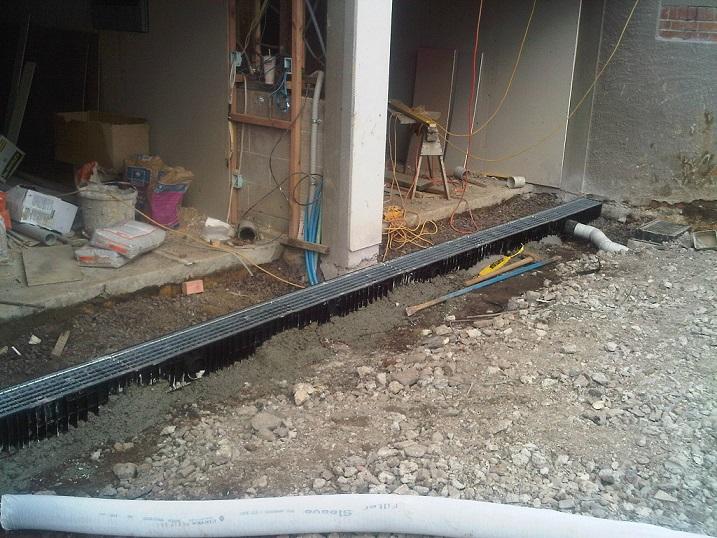 Corrugated Drainage Pipe Under Driveway