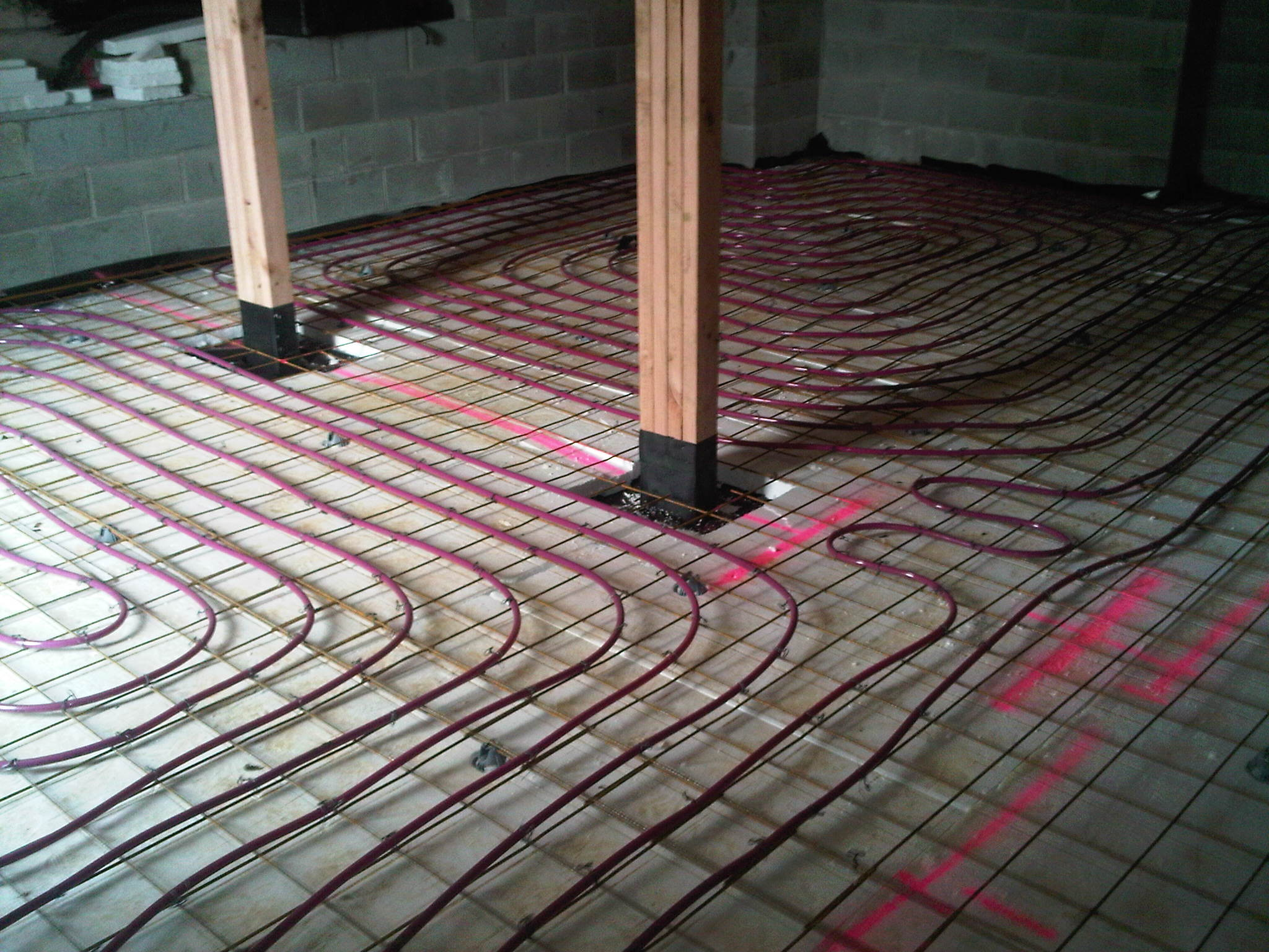 Underfloor Heating System Installations Euro Plumbing House Wiring Under Floor In Central